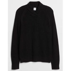 GAP Men's Ribbed Pullover Sweater Black Medium